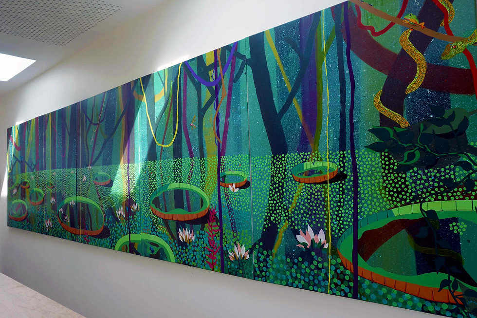 Amazon mural on Canvas in School