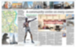 Teviot Mural featured in local newspaper, our east end, East End Life