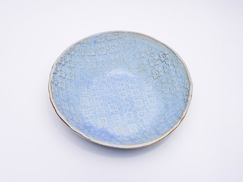 Salad bowl Blue jeans with golden edge