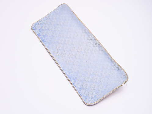 Large Tray Blue jeans with golden edge