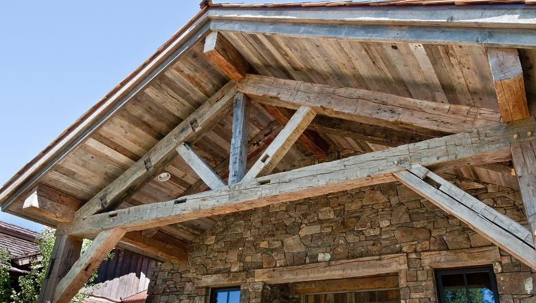 Hand Hewn Timber & Barn Wood Gray