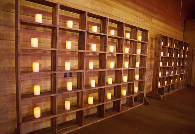 Redwood Wall Shelf Unit