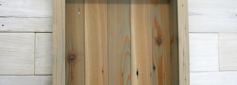 Reclaimed Cedar Shadow Box with Pear Fin