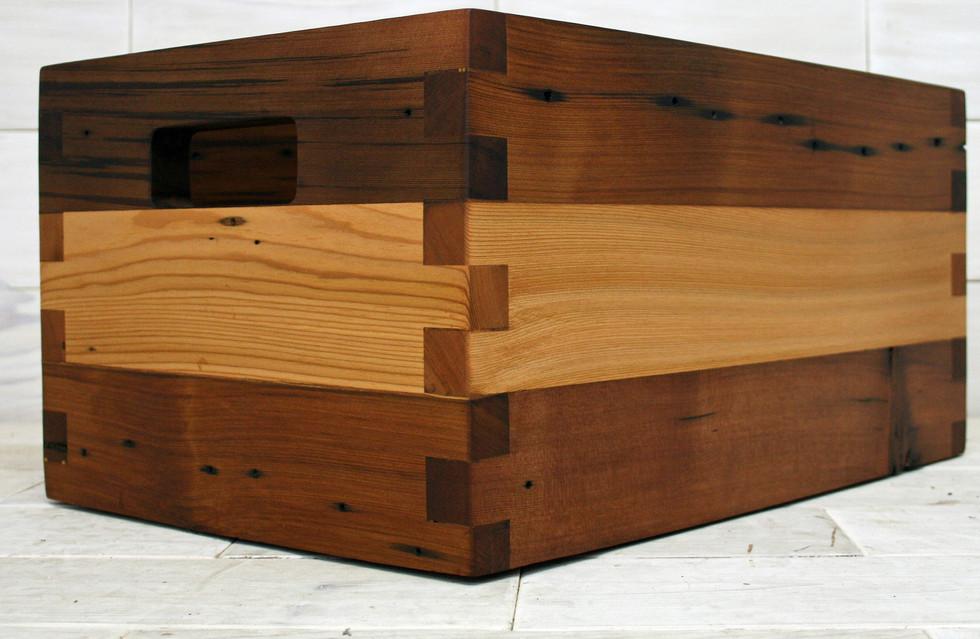Reclaimed Cedar Box Joint Crate
