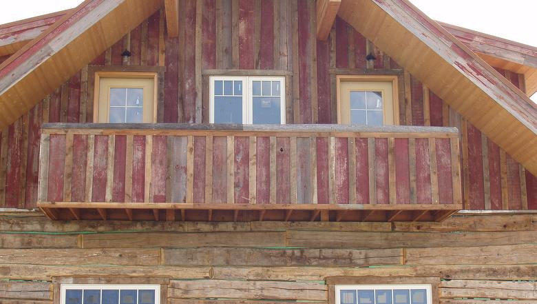 Antique Barn Wood Faded Red
