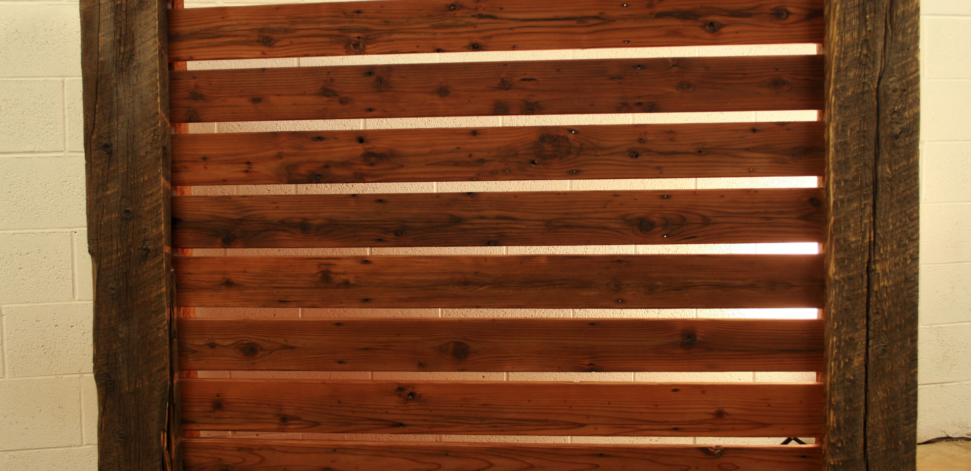 Barn Wood & Redwood Headboard