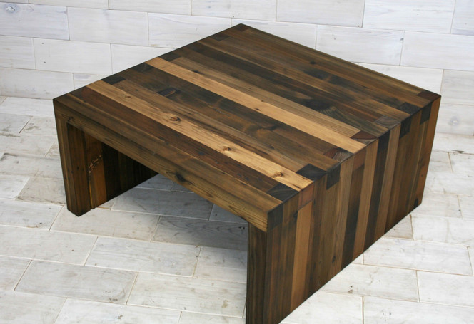 Reclaimed Wood Box Joint Coffee Table