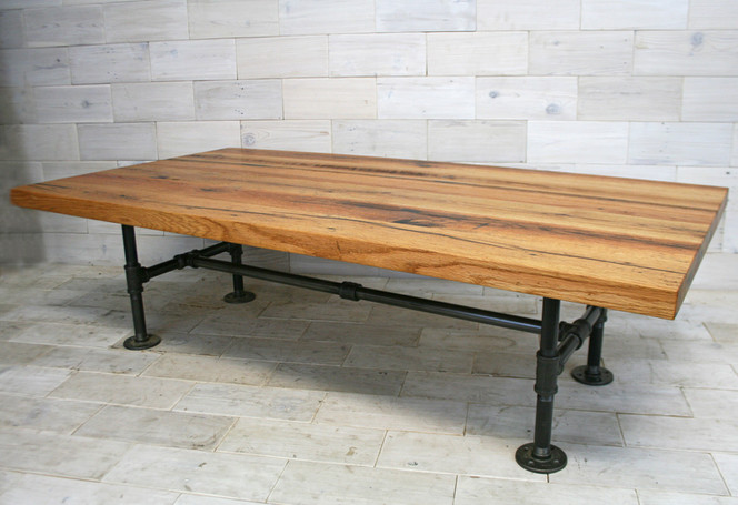 Tobacco Oak with Pipe Legs