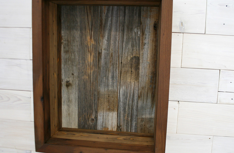 Reclaimed Cedar Shadow Box with Barn Woo