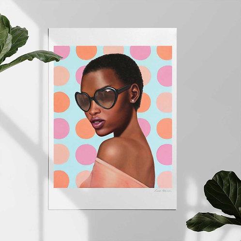 "Post Modern Design Portrait Print ""Lady Shades"""