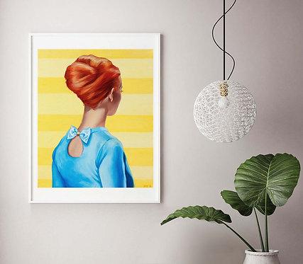"Post Modern Design Portrait Print ""Peek A Bow"""
