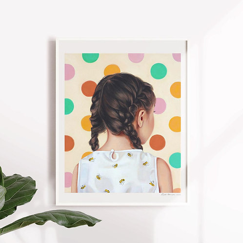 "Post Modern Design Portrait Print ""Busy Bee"""