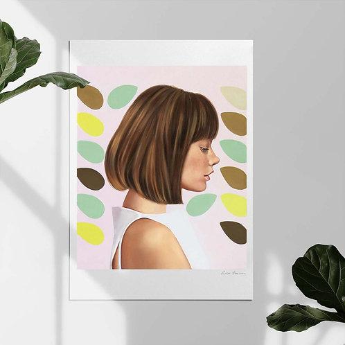 "Post Modern Design Portrait Print ""Freckles"""