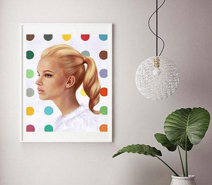 "Post Modern Design Portrait Print ""Snowflakes"""