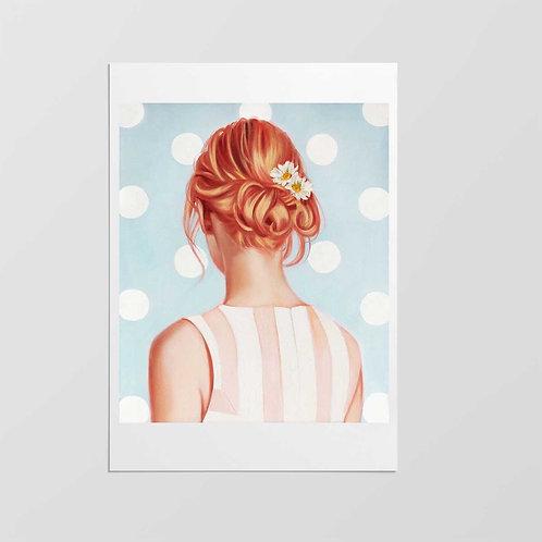 "Post Modern Design Portrait Print ""Strawberry Blonde"""