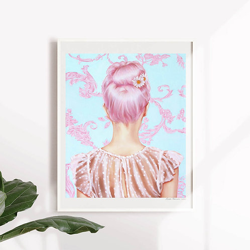 "Post Modern Design Portrait Print ""Pink Empire"""