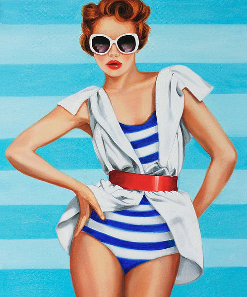 "Post Modern Design Portrait Print ""Elle Nautical"""