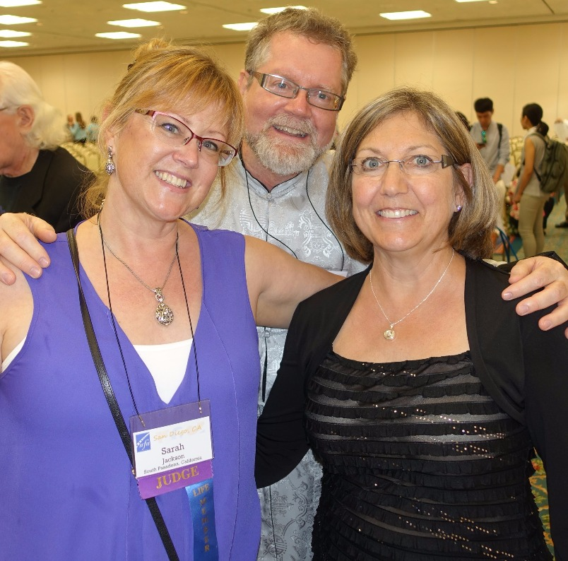 Judy with Sarah Jackson and Clyde Mitchell. NFA 2016