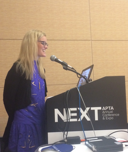 Julie giving a presentation at the APTA NEXT Conference