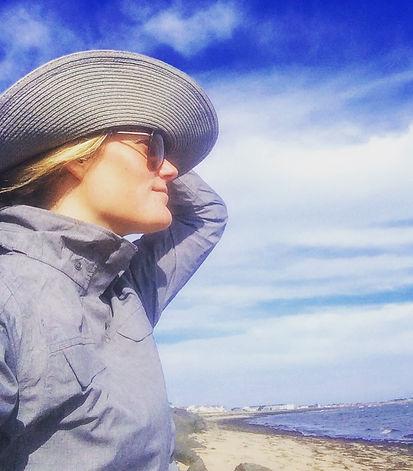 Dr Julie Granger at beach