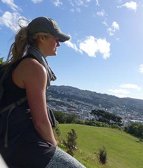 Dr Julie Granger overlooking cityscape