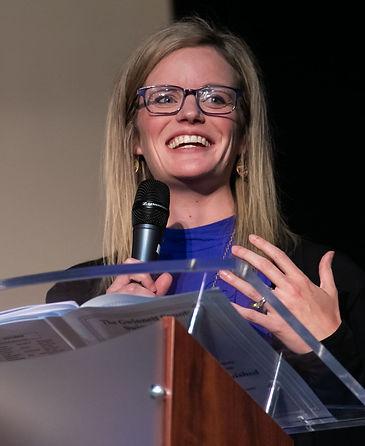 Dr Julie Granger Speaking at Gwinnett Swim Dive Banquet