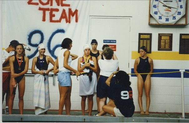 Photo credit: Julie Granger; I'm pictured at the far left, at age 12, after finishing 7th place in the 50 backstroke at the Southern Zone Meet in Orlando, Florida.