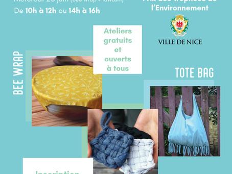 Ateliers ECO'DIY dans le cadre des Trophées de l'Environnement de la Ville de Nice