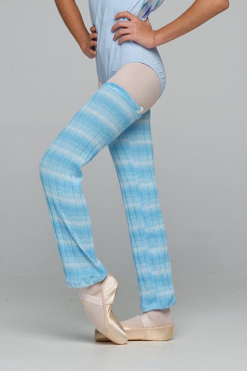 Leg warmer-Sky Blue Gradient Stripes