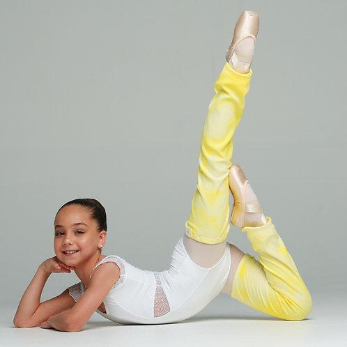 Leg warmers- Dip dye yellow-XXS