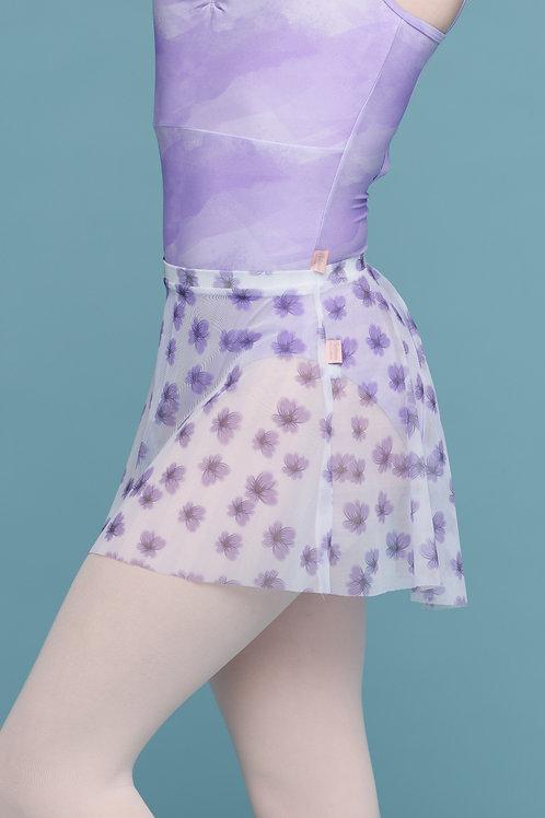 Mini Skirt- Purple Mini Floral