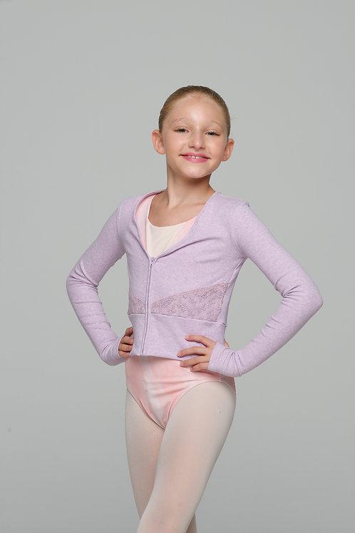Lace Jacket- Lavender Rib -L