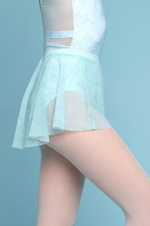 Mini Skirt- Mint Floral