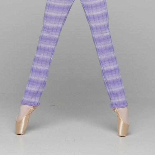 Leg warmer-Purple Gradient Stripes