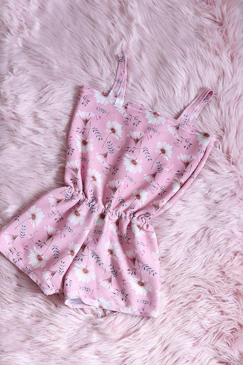 Short Romper- Pink and Floral