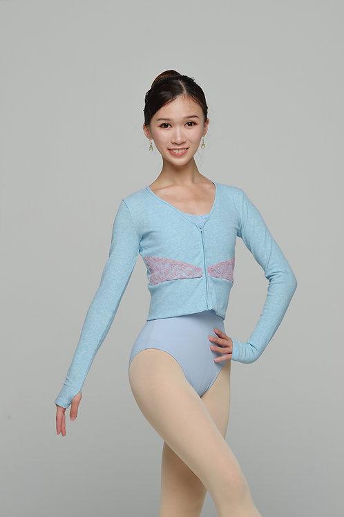 Lace Jacket- Sky Blue Rib -XS