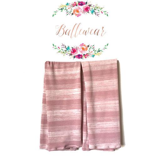 Size S Rose Stripes Full Length Leg Warmer