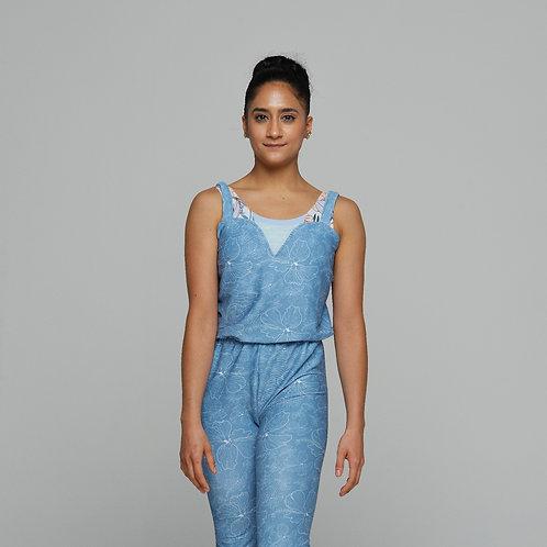 Sylvia Jumper- Denim Blue Floral