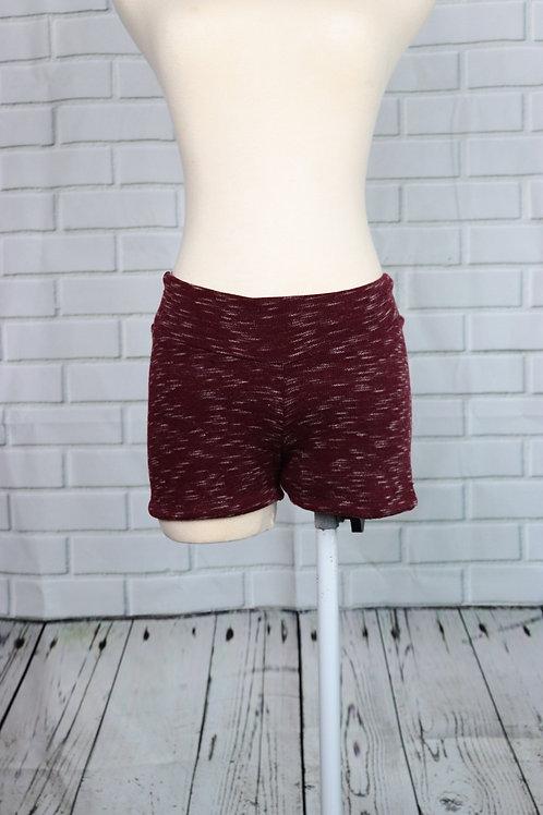 Shorts-Burgundy Brushed-M