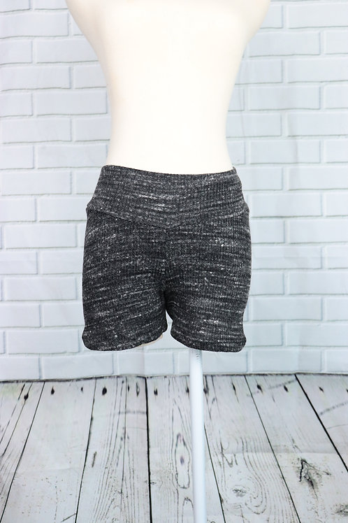 Shorts-Black Brushed- S