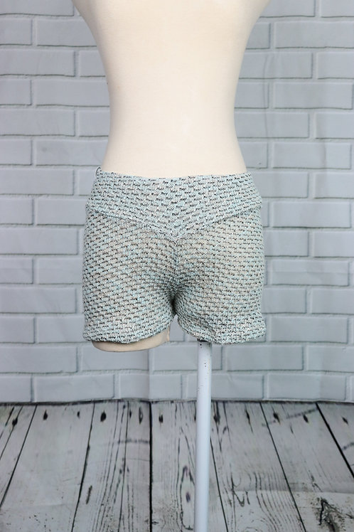 Shorts-Mint and Black Knit- S