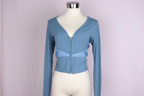 Lace Jacket- Denim Blue with Blue Lace -L