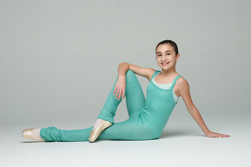 Long Romper- Sparkly Turquoise (Only XS left)