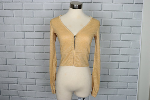 Jacket- Sparkly yellow-M