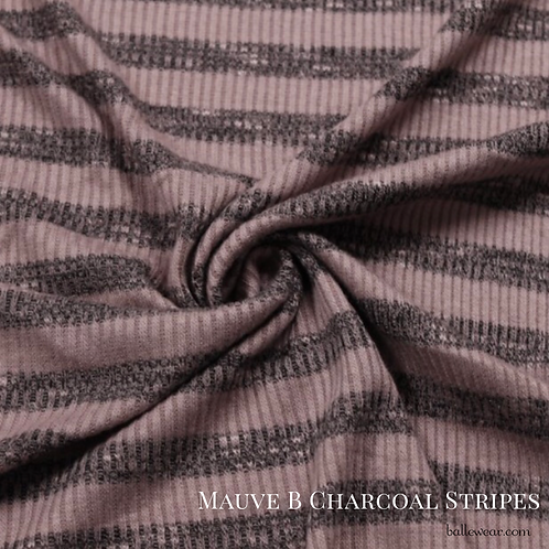 #LR102 Mauve B Charcoal Stripes