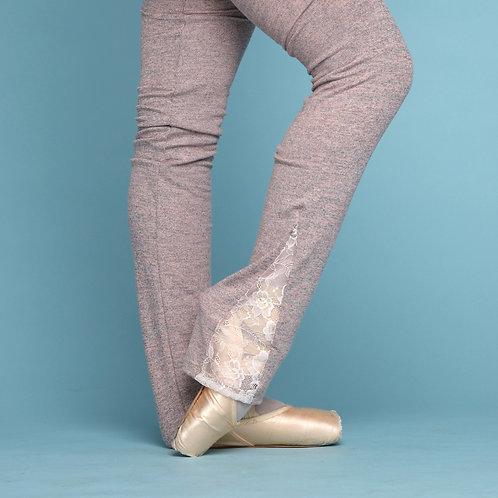 Lace Leg Warmers-Mauve