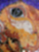 Detail van een glasmozaïek