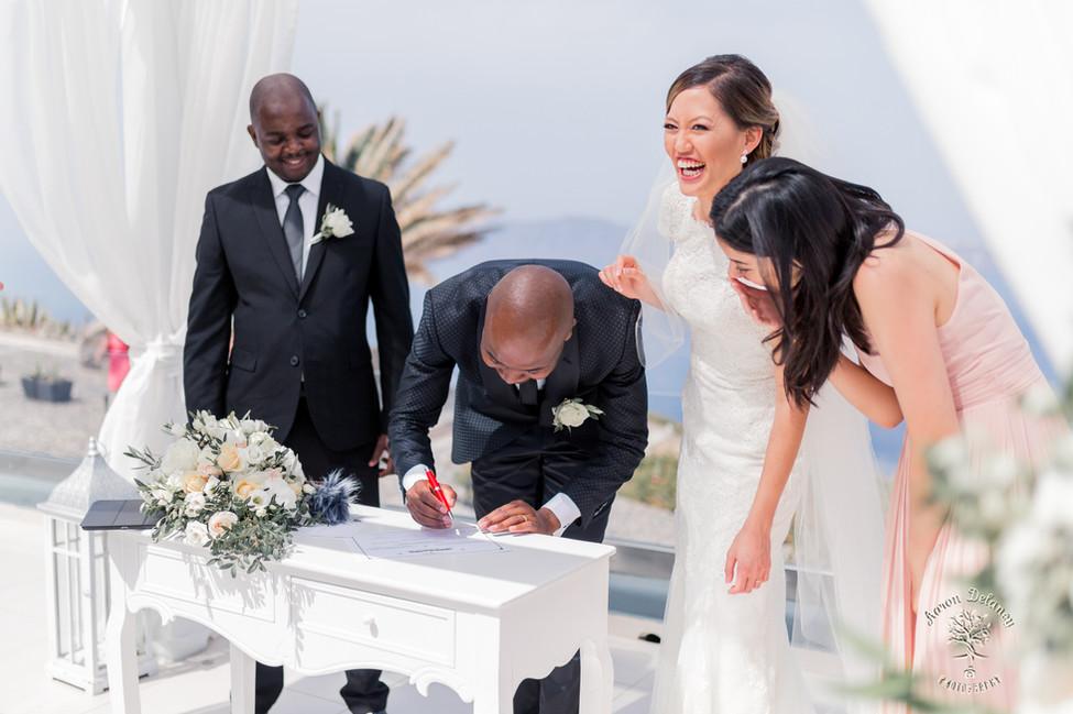 wedding at le ciel santorini