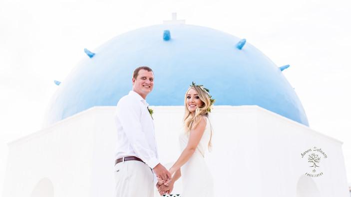 best wedding destination Santorini Greece