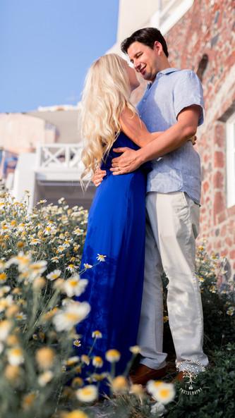 Santorini wedding photoshoot